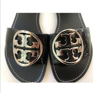 TORY BURCH Black Leather Sandals US 9.5